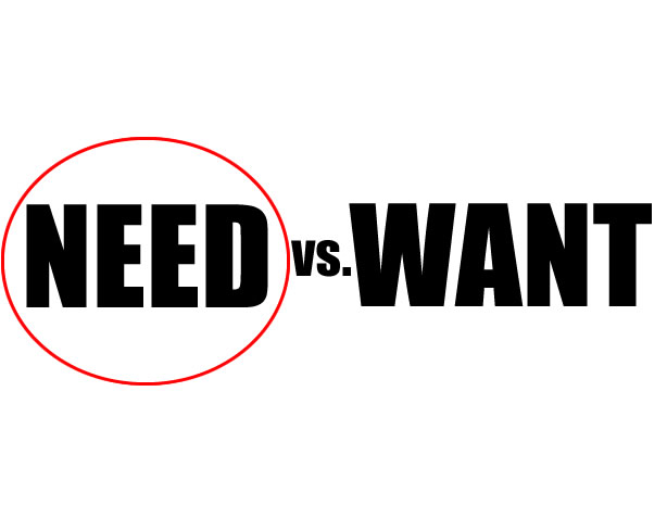 need-vs-want