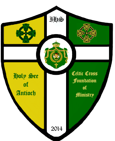 Holy See of Antioch Celtic Cross Foundation of Ministry Shield 2015