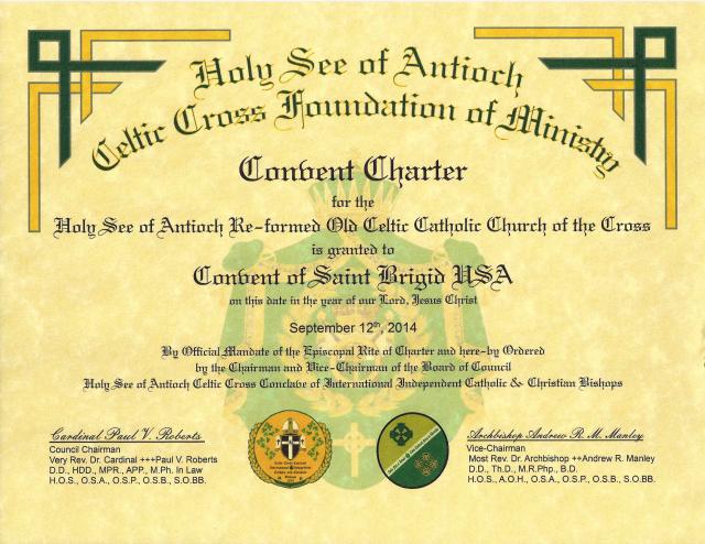 Convent Charter - Mother Kathleen Ann