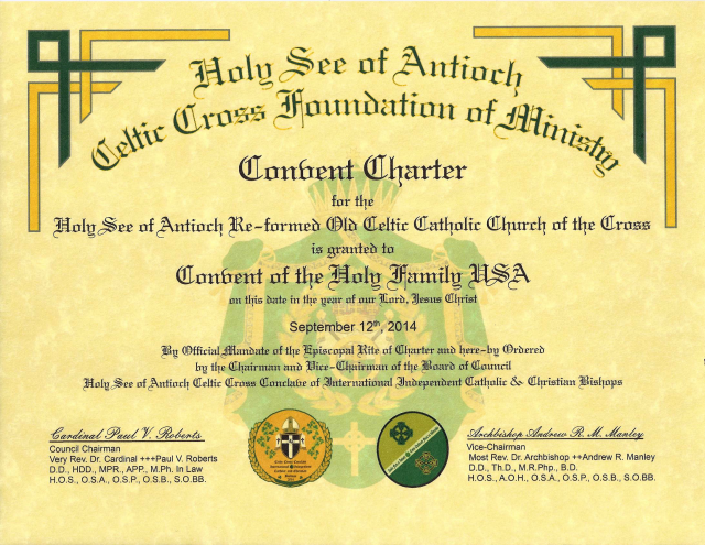 Convent Charter - Mother Superior Maria Faustina