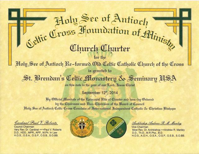 HSACCFM Church Charter - St Brendan Monastery